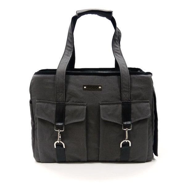 CHARCOAL BUCKLE TOTE V2 DOG CARRIER, Carriers - Bones Bizzness