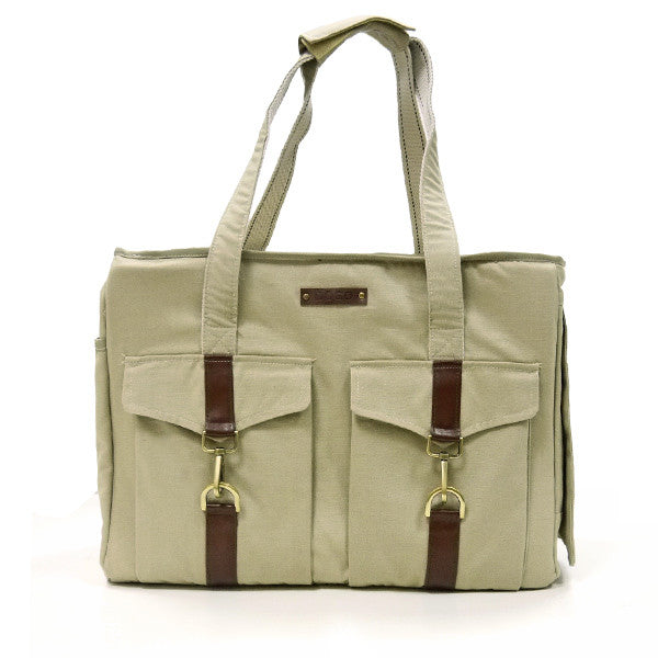 BEIGE BUCKLE TOTE V2 DOG CARRIER, Carriers - Bones Bizzness