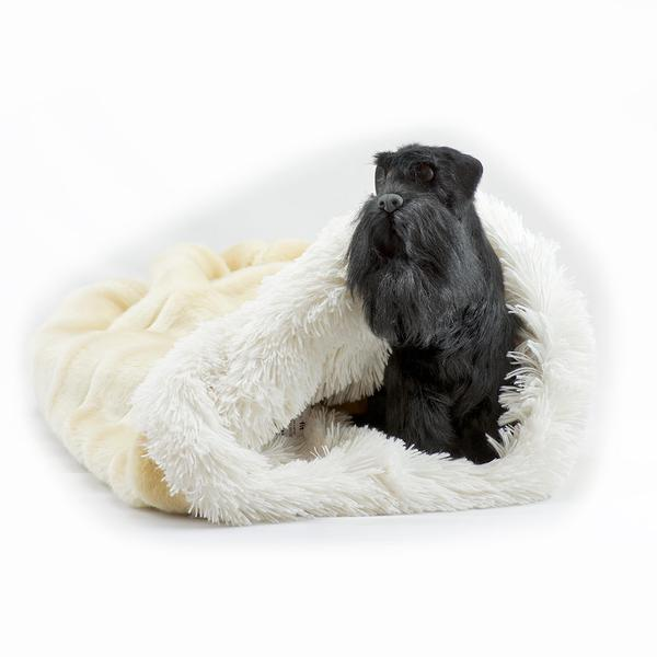 BUFF CHINCHILLA WITH CREAM SHAG CUDDLE CUP, Beds - Bones Bizzness