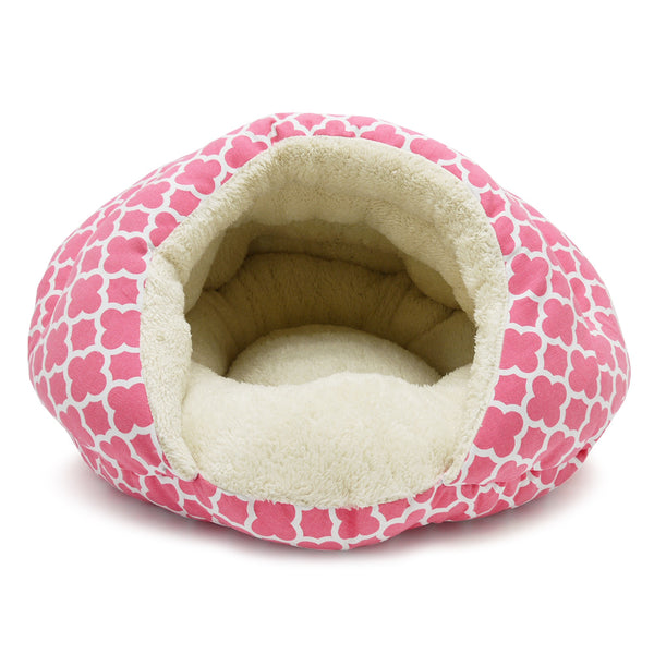 PINK GEO DIAMOND BURGER DOG BED