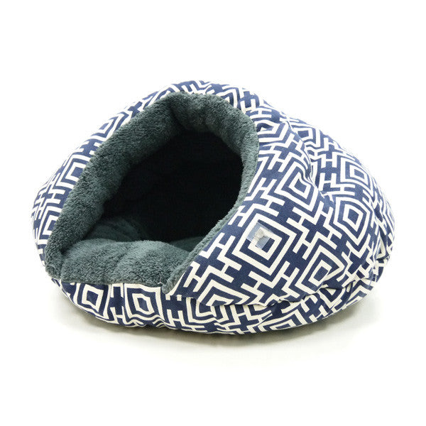 MODERN NAVY BURGER DOG BED, Beds - Bones Bizzness