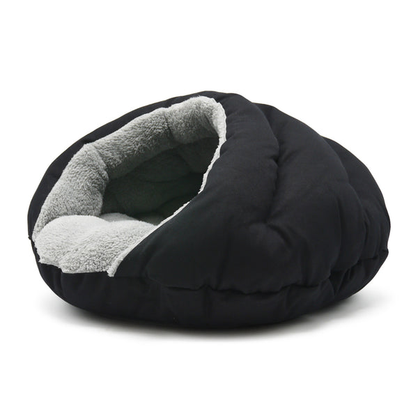 BLACK BURGER DOG BED, Beds - Bones Bizzness