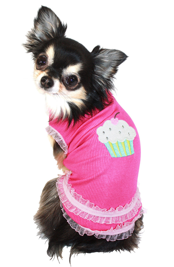 STRAWBERRY CUPCAKE DOG TANK