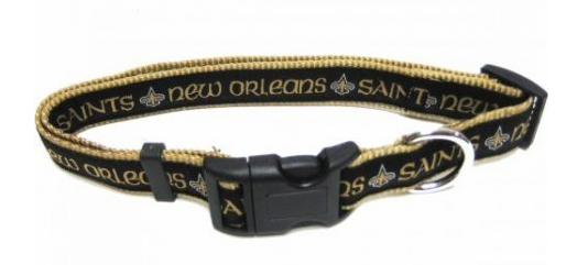 NEW ORLEANS SAINTS DOG COLLAR – RIBBON
