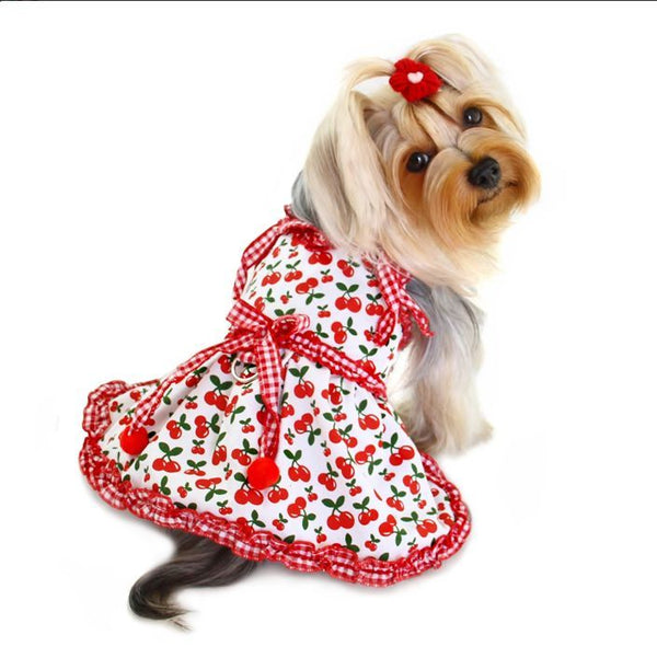 SWEET CHERIES DOG DRESS W/ D-RING, DRESS - Bones Bizzness
