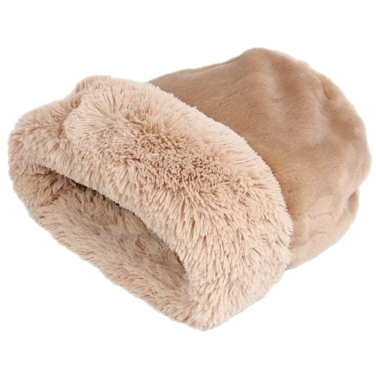 CUDDLE CUP DOG BED - CAMEL SHAG, Beds - Bones Bizzness