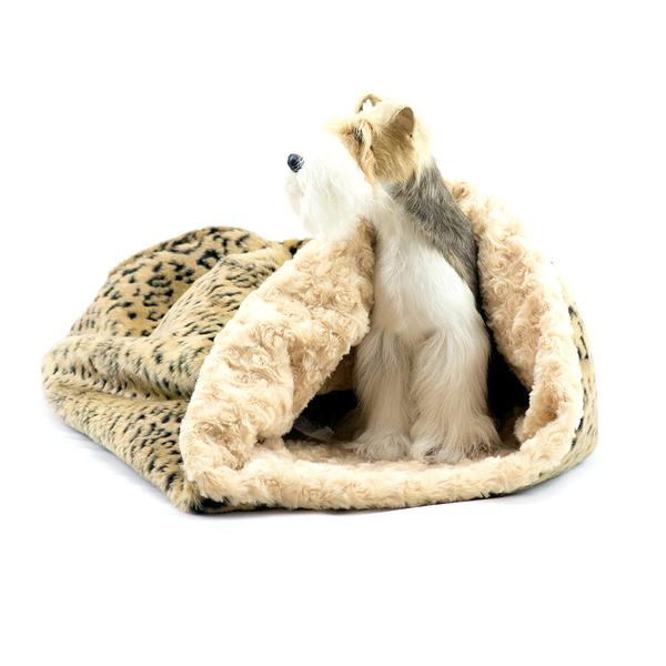 CAMEL LYNX WITH CAMEL CURLY SUE CUDDLE CUP DOG BED, Beds - Bones Bizzness