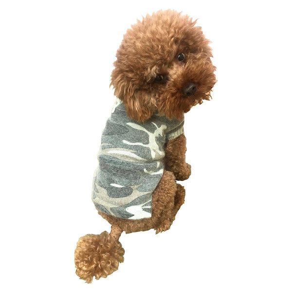 Vintage Camouflage Dog Sweater Olive