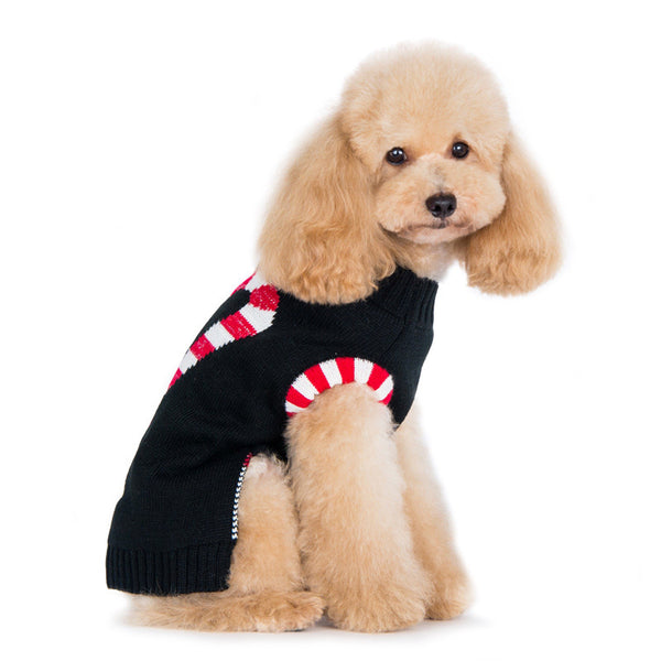 CANDY CANE DOG SWEATER, Sweaters - Bones Bizzness