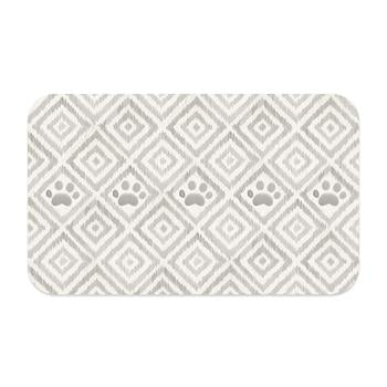 PAW IKAT PET PLACEMENT RUG - NATURAL, Rugs - Bones Bizzness