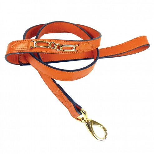 CENTRAL PARK IN TANGERINE DOG LEAD