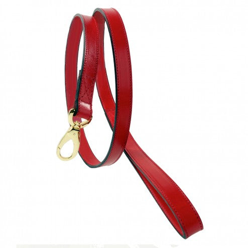 CENTRAL PARK IN FERRARI RED DOG LEAD