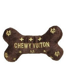 CHEWY VUITON BONE DOG TOY, Toys - Bones Bizzness