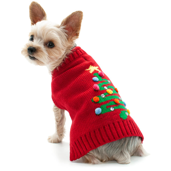 CHRISTMAS TREE SWEATER DOG SWEATER, Pajamas - Bones Bizzness