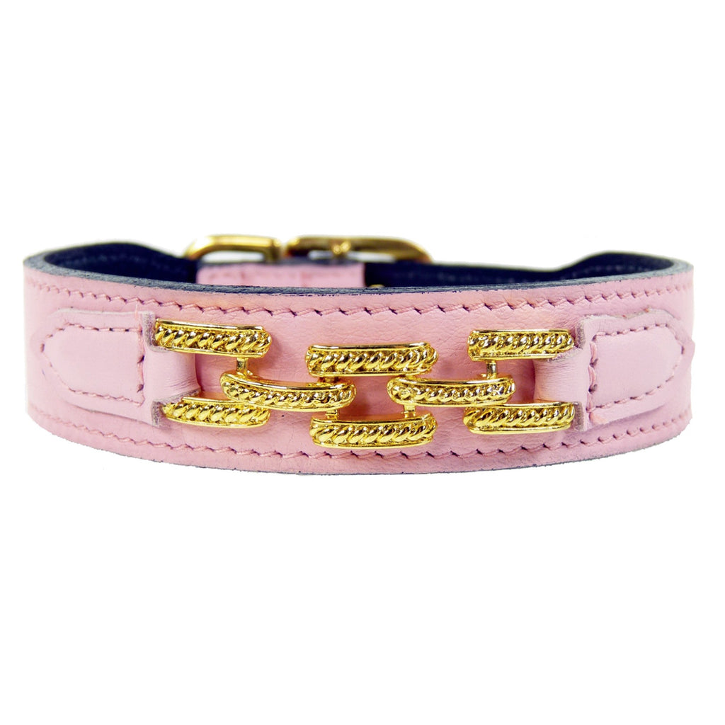 COLONY CLUB IN SWEET PINK DOG COLLAR, Collars - Bones Bizzness