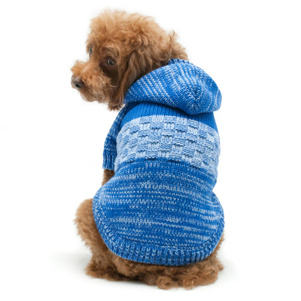 BLUE COLORBLOCK DOG SWEATER, Sweaters - Bones Bizzness