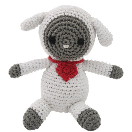 LAMB ORGANIC COTTON SMALL DOG TOY, Toys - Bones Bizzness