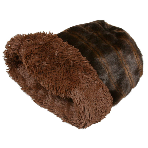 CUDDLE CUP DOG BED - CHOCOLATE SHAG, Beds - Bones Bizzness