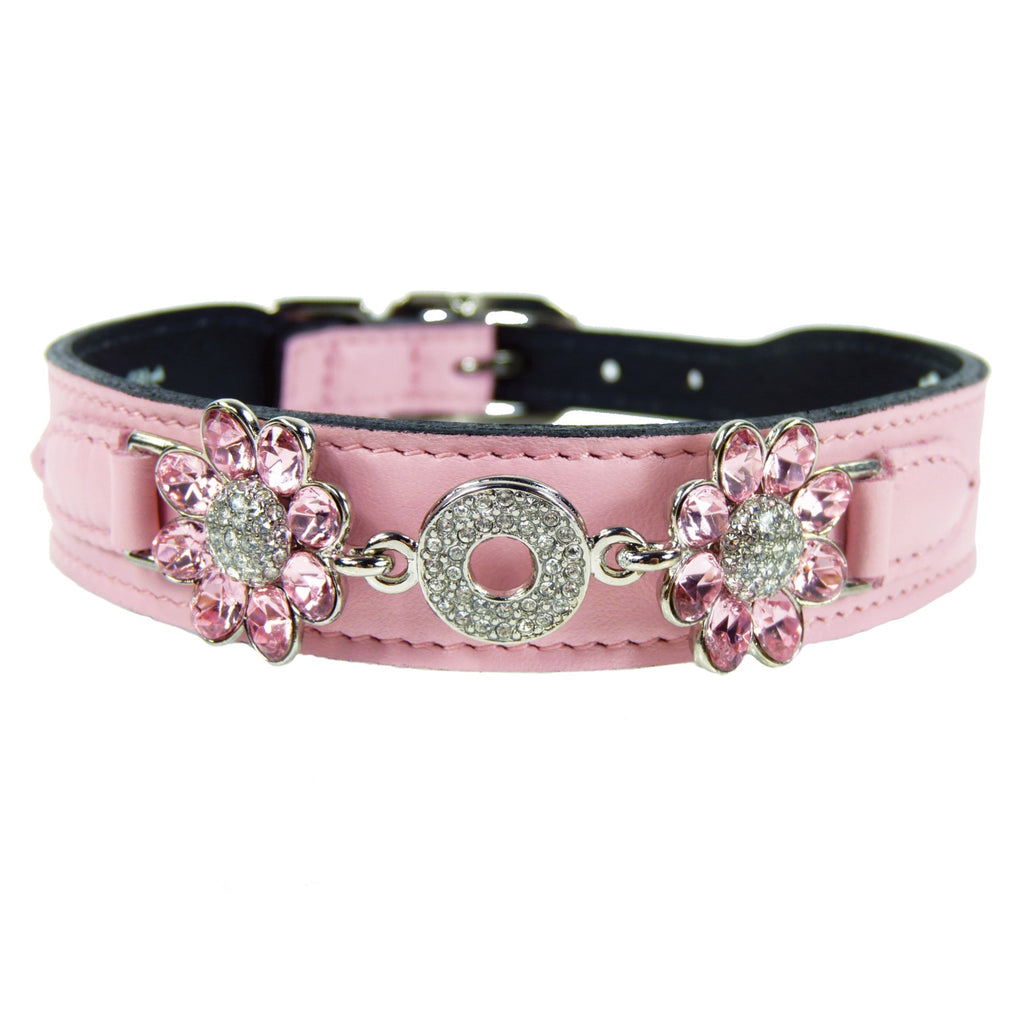 DAISY IN SWEET PINK DOG COLLAR, Collars - Bones Bizzness