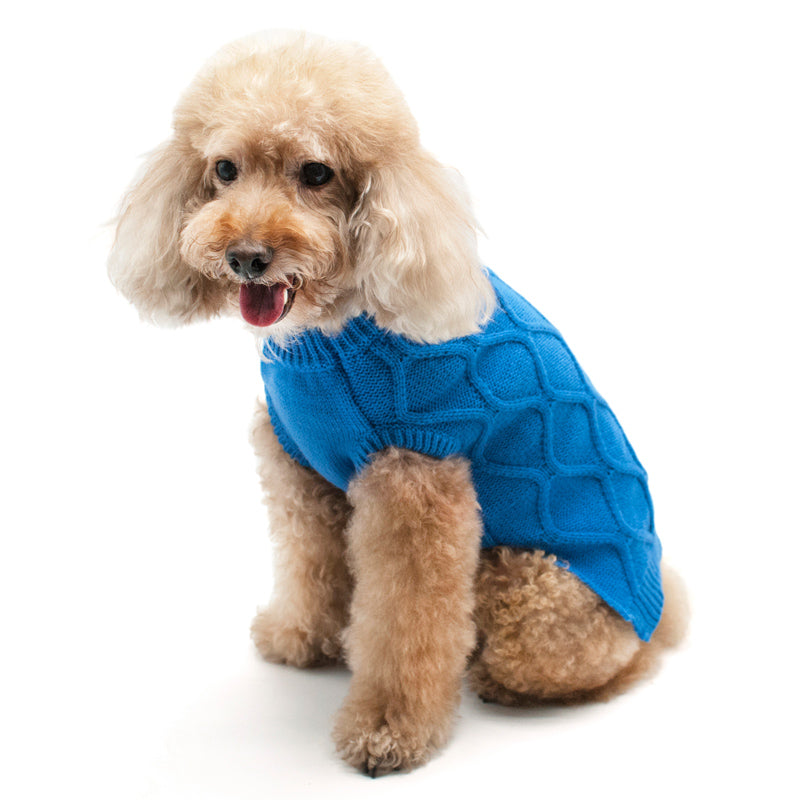 DIAMOND KNIT DOG SWEATER, Sweaters - Bones Bizzness