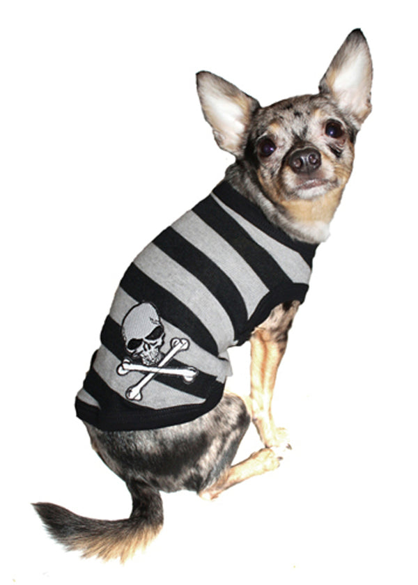 GREY STRIPE SKILL DOG TEE