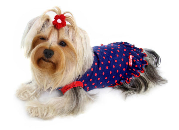 BETTIE POLKA DOT DOG DRESS