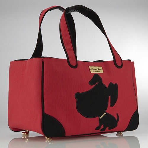 DOGGIE STYLE CANVAS RESCUE ME DOG TOTE RED, Carriers - Bones Bizzness