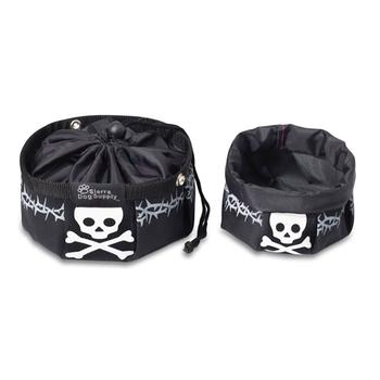 DOGGLES BLACK TRAVEL DOG BOWL, Travel Bowls - Bones Bizzness