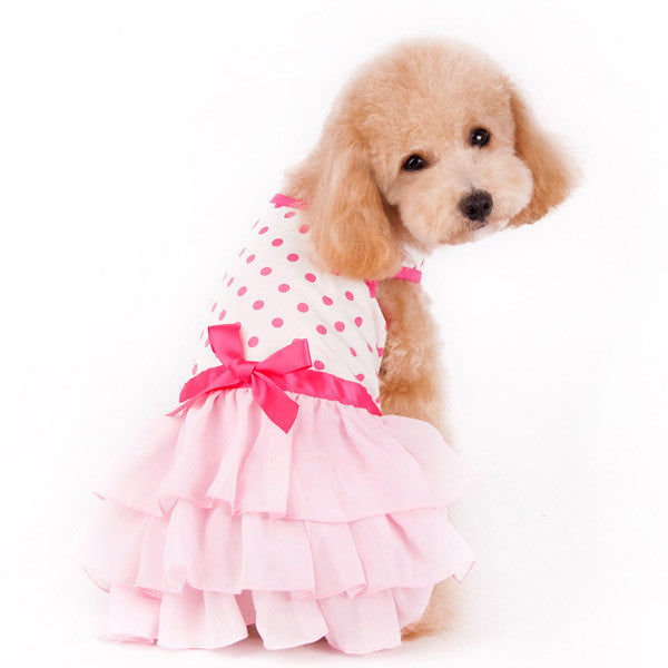 DOT N RUFFLE DOG DRESS, Dress - Bones Bizzness