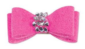 CRYSTAL ROCKS ULTRASUEDE HAIR BOWS - (53 COLORS), HAIR BOW - Bones Bizzness