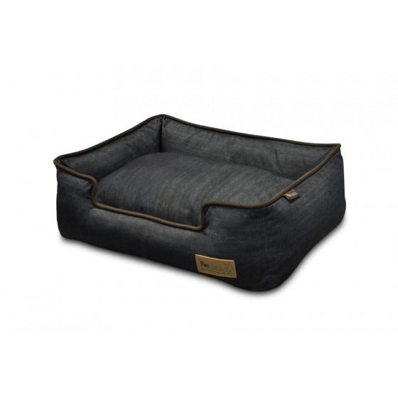 URBAN PLUSH MEDIEVAL BLUE/CHOCOLATE DOG LOUNGE BED, Beds - Bones Bizzness