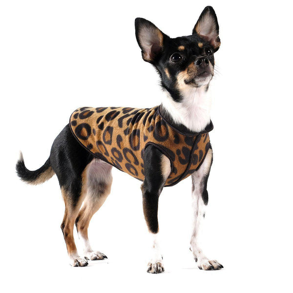 DULUTH DOUBLE FLEECE DOG SWEATER LEOPARD/BLACK