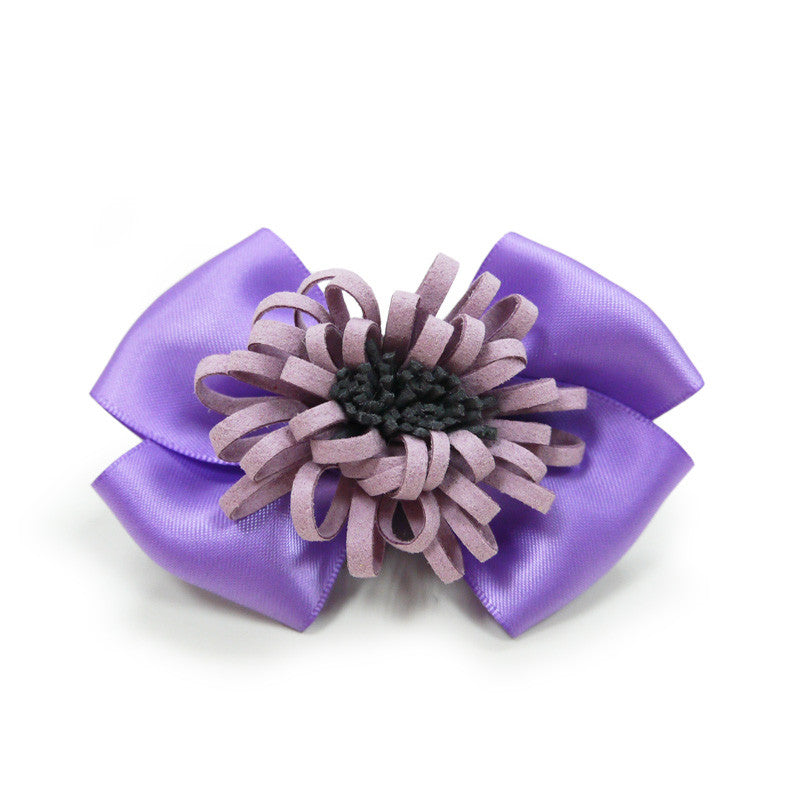 PURPLE FLOWER DOG EASYBOW  2, ACCESSORIES - Bones Bizzness