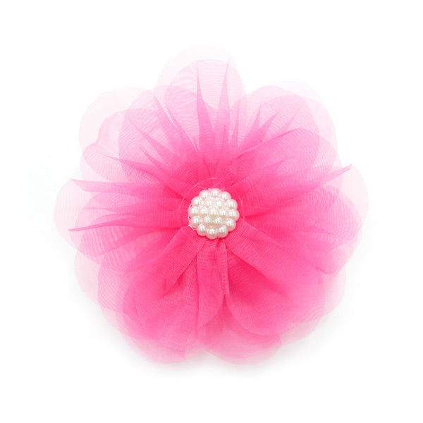 HOT PINK FLOWER DOG EASYBOW  13, ACCESSORIES - Bones Bizzness