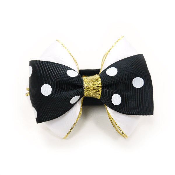 POLKA DOT GENTLEMAN DOG EASYBOW  2, ACCESSORIES - Bones Bizzness