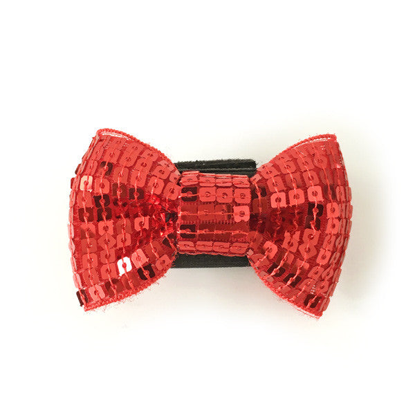 SEQUIN EASYBOW RED DOG BOW 1, ACCESSORIES - Bones Bizzness