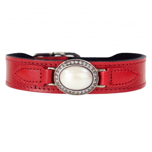 ESTATE IN FERRARI RED DOG COLLAR