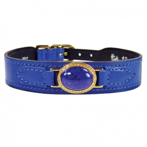 ESTATE IN COBALT BLUE DOG COLLAR