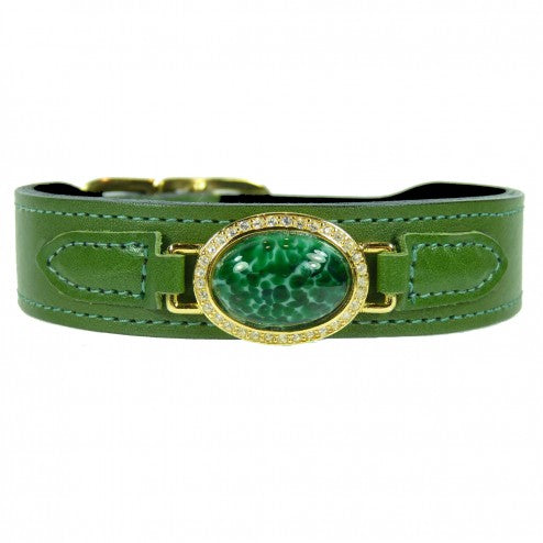 ESTATE IN LIME GREEN DOG COLLAR