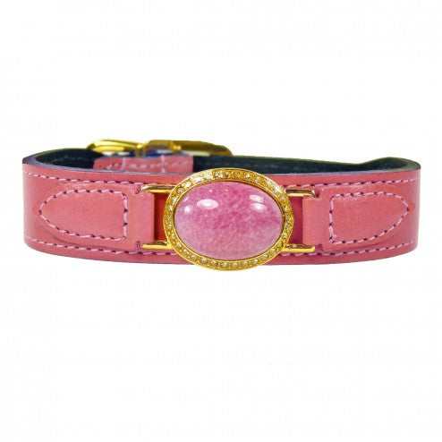 ESTATE IN PETAL PINK DOG COLLAR