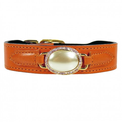 ESTATE IN TANGERINE DOG COLLAR