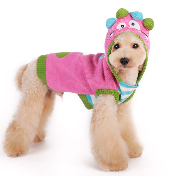 FUNNY MONSTER DOG SWEATER, Sweaters - Bones Bizzness