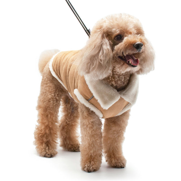 FURRY RUNNER BROWN DOG COAT, Coats - Bones Bizzness
