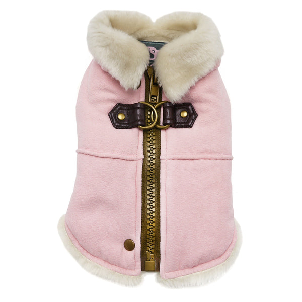 FURRY RUNNER DOG COAT PINK, Sweaters - Bones Bizzness