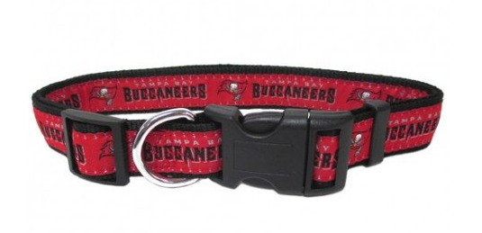 TAMPA BAY BUCCANEERS DOG COLLAR – RIBBON, NFL Collars - Bones Bizzness