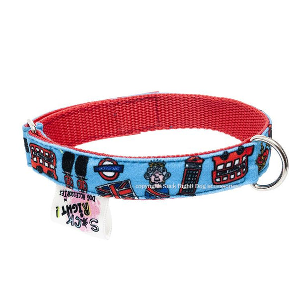 GOD SAVE THE TEXTILE DOG COLLAR