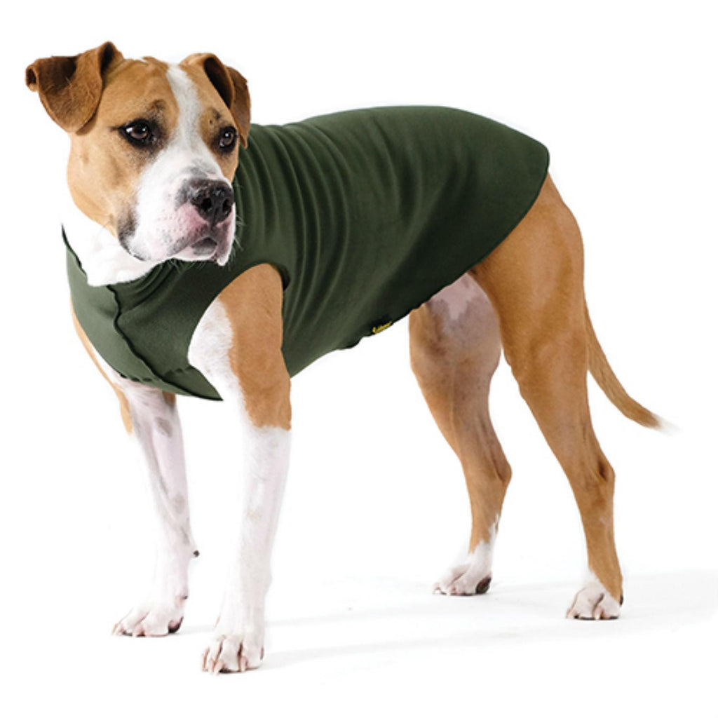 GOLD PAW STRETCH HUNTER GREEN DOG FLEECE