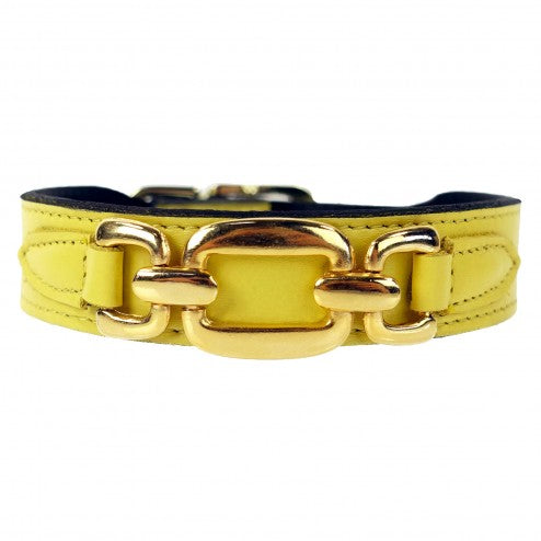 GOOD AS GOLD IN CANARY YELLOW DOG COLLAR