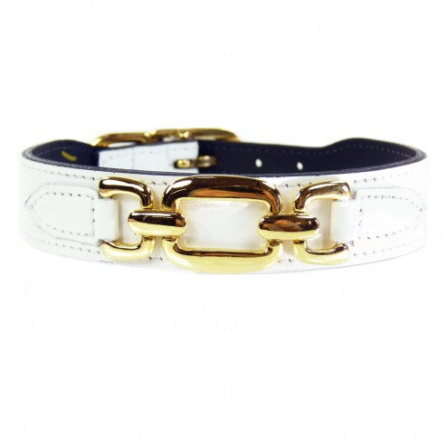 GOOD AS GOLD IN WHITE DOG COLLAR