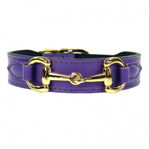 BELMONT IN LAVENDER & GOLD DOG COLLAR, Collars - Bones Bizzness
